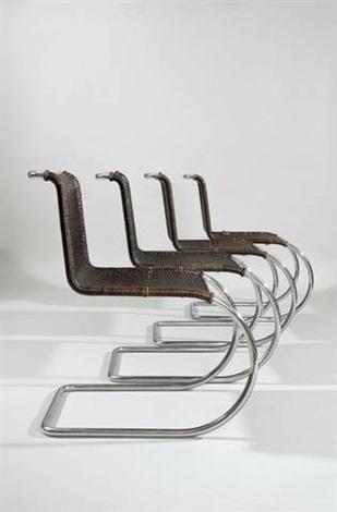 mr10 set von vier stühlen set of 4 by ludwig mies van der rohe