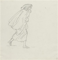 monk (study) by karl pavlovich bryullov
