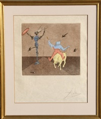 master and squire by salvador dalí