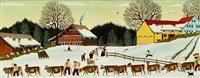 öberefahre im winter bei tauwetter by albert manser