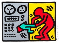 untitled, plate i (from pop shop iii) by keith haring