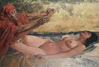 reclining nude by erich wolfsfeld