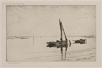 off pea island, proof impression b-7 by frank weston benson
