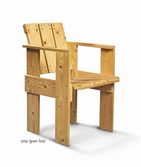 crate chair by gerrit thomas rietveld