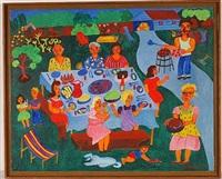 family picnic by malcah zeldis