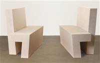 two part bench: a pair by scott burton