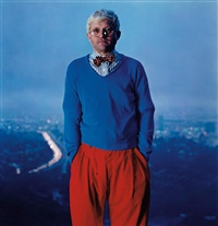 david hockney, los angeles by annie leibovitz