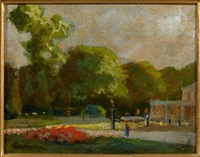 paysage d'ile de france ou la fontaine du cirque by armand guillaumin