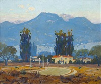 early morning, san gabriel mountains, pasadena by ferdinand kaufmann