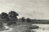 on the bourne, near chobham, surrey by george oyston