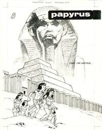 papyrus - la métamorphose d'imhotep by lucien de gieter