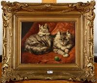 chatte et son petit by henriette ronner-knip