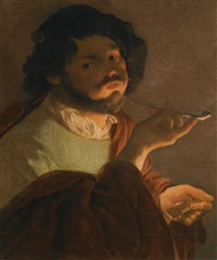 a bravo smoking by hendrick terbrugghen