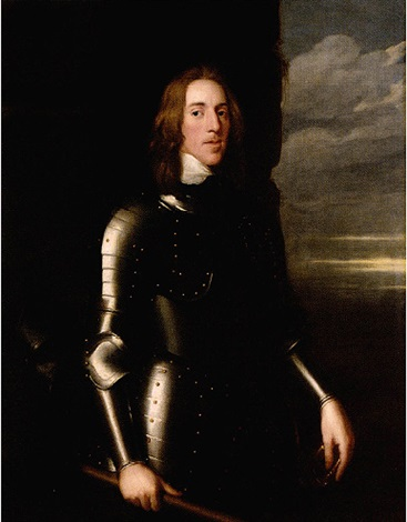 portrait of sir richard ingleby wearing armour his helmet beside him a baton in his hand by john hayls