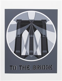 to the bridge from the american dream portfolio by robert indiana