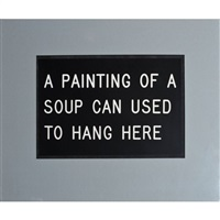 a painting of a soup can by william anastasi