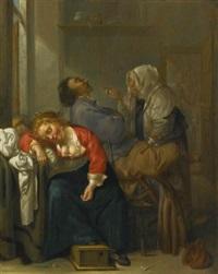tickled sleep (bordello scene with sleeping couple) by jacob duck