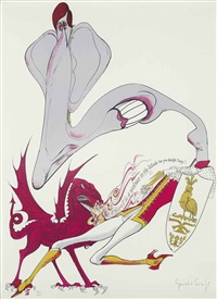 prince..., richard..., aristotle..., another..., hugh..., landscape..., revolution..., vanessa..., the marquis..., and untitled (10 works) by gerald scarfe