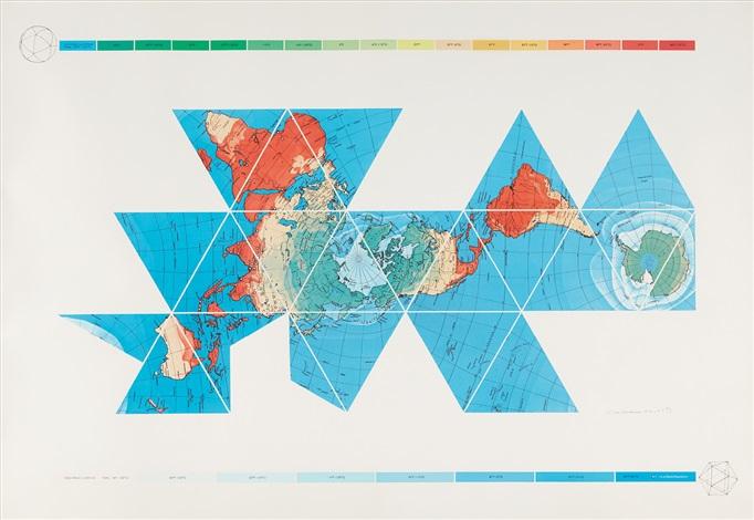 Dymaxion Air - Ocean World Map von Buckminster Fuller auf artnet