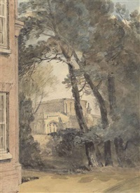 st. mary's church, east bergholt from the grounds of west lodge by john constable