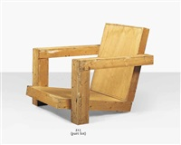 a full-size maquette for a lounge chair by gerrit thomas rietveld