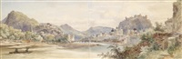 panorama der stadt salzburg mit der feste hohensalzburg by anton altmann the younger