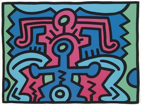 growing, no 5 by keith haring