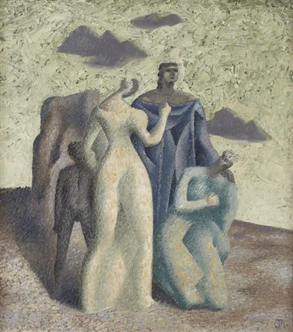 monumental figure group by john armstrong
