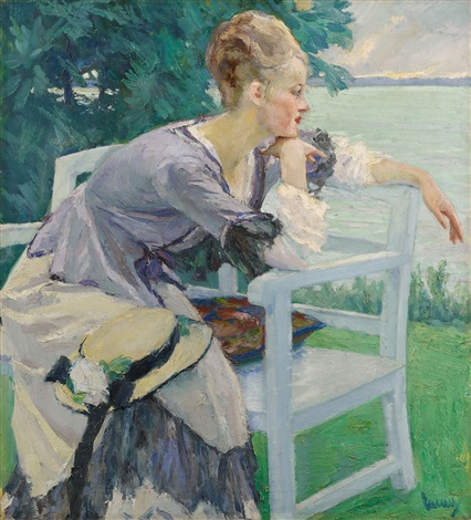 damenbildnis by edward cucuel