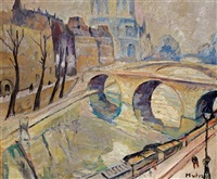 le pont st. michel, paris by maria-mela muter