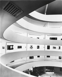 interior of the new solomon r. guggenheim museum, new york by ezra stoller