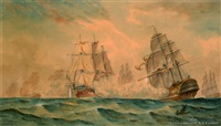 a high seas battle by george frederick gregory