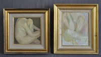 female nude studies (2 works) by bryan westwood