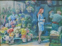 flowers and customer by clyde singer