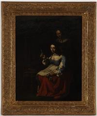 jeune femme et sa domestique dans un intérieur by michael sweerts