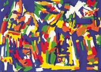 entrée de peinture : les clowns dario, pipo et mimile by jacques mennessons
