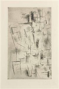 composition (nature morte aux verres) by georges braque