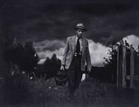 dr. ernest ceriani makes a house call on foot, kremmling, colorado (from country doctor essay) by w. eugene smith