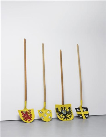 4 shovels in 4 parts by wim delvoye