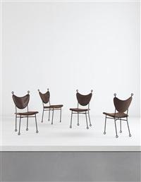 yo-yo side chairs (set of 4) by jean royère