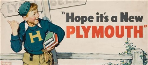 hope its a new plymouth by norman rockwell