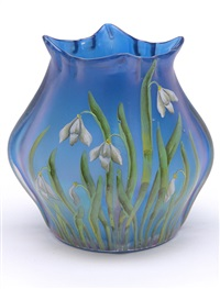 vase (decorated by betty hedrich) by ferdinand von poschinger