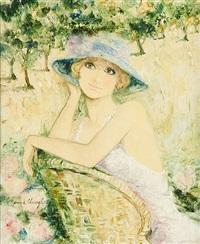 anne dans son jardin by bernard charoy