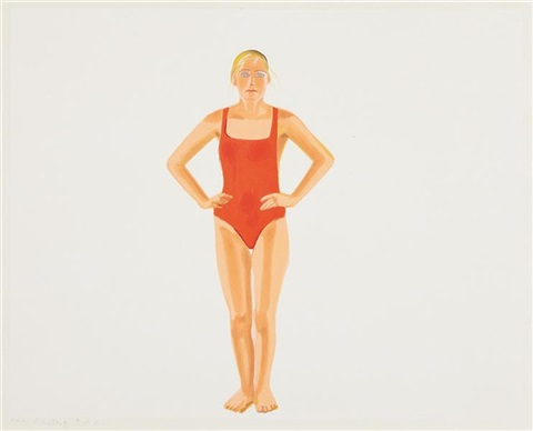 swimmer by alex katz