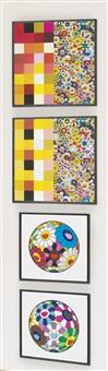 acupuncture/flowers (checkers); acupuncture/flowers; flower ball (algae ball); flower dumpling by takashi murakami