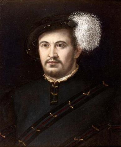 portrait dhomme au béret à plume by nicolo dell abbate