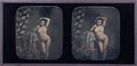 jeune femme nue debout appuyée sur une colonne by joseph auguste belloc