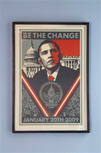 obama / be the change by shepard fairey