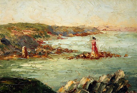 1932 - Eva Stuart-Watt : Seascape and Lighthouse