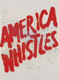 america whistles, from america: the third century by ed ruscha